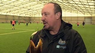 Rafa Benitez's acceptance speech as he collects first piece of silverware as Newcastle boss.