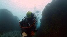 Ice diving in Rausu Hokkaido