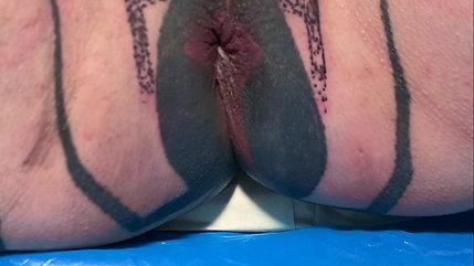 Healed anus Tattoo by Touka Voodoo