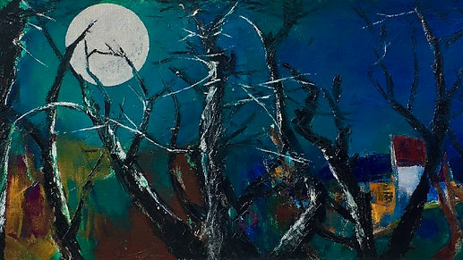 """Resilience through colour: Part IV """"Blackthorn with Moon"""""""
