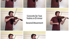 Bach Double Violin Concerto, 2nd Movement