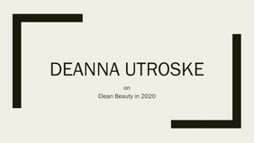 Clean Beauty in 2020
