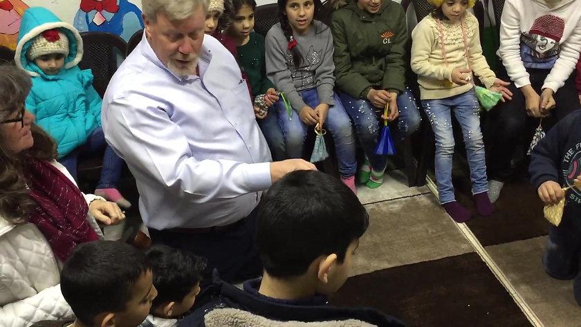 Playing with Kids in Jordan