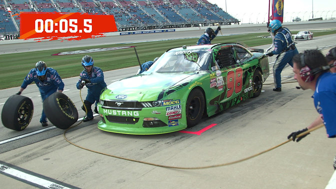 Bubba Wallace Pit Stop