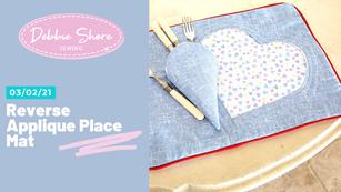 03/02/21 reverse applique heart place mat