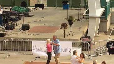 Dancing at Live on the Levee to Blue Yonder, 8/23/19