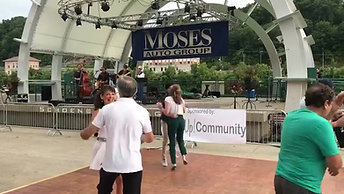 Dancing at Live on the Levee to Hot Jazz Jumpers, 8/23/19