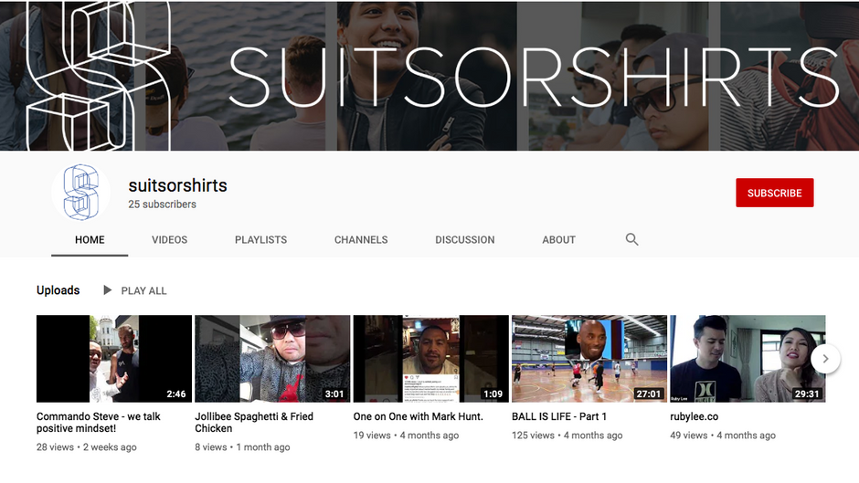 Suits or Shirts on YouTube