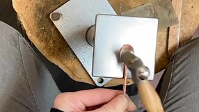 Doming a cocktail stirrer spoon