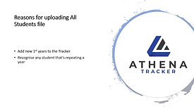 Updating Athena Tracker for Academic Year 2020_2021