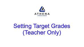Setting Target Grades