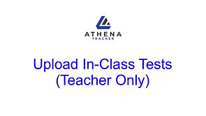 Upload In-Class Tests