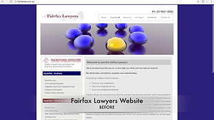 BEFORE > Fairfax Lawyers Website