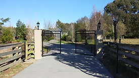Steel swinging automatic gates