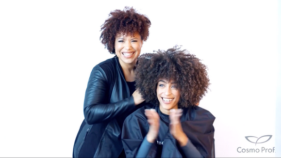 Dry Cutting Curly hair with Daze