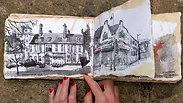 Hand-made sketchbook flip through