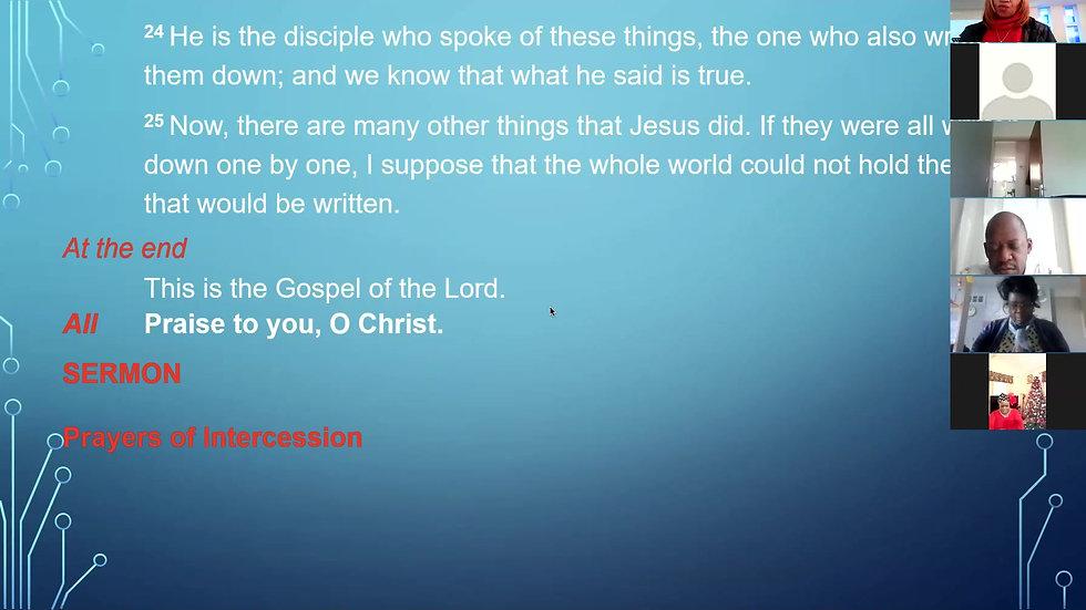 27th December Sermon