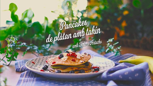 Pancakes de plàtan amb tahin