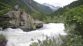 Alpine river flowing