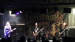GIRLSCHOOL SET @ SIXFIELDS ROCK FESTIVAL