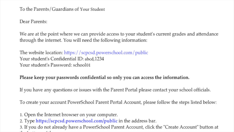 Powerschool Parent Account Creation