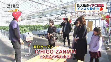 """ICHIGO ZANMAI aired on TV program """"UTY News-no-Hoshi""""."""