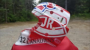 Custom painted goalie masks