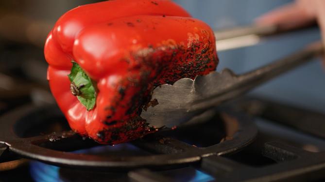Anolon X Pepper Polenta with Scallops