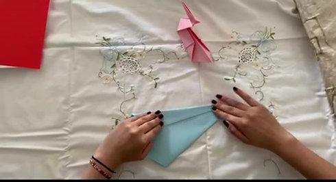 Origami di Cigni in pochi piccoli passi