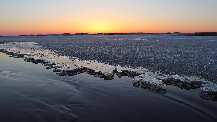 Sunrise on Lake Superior's Whitefish Bay - March 21, 2021