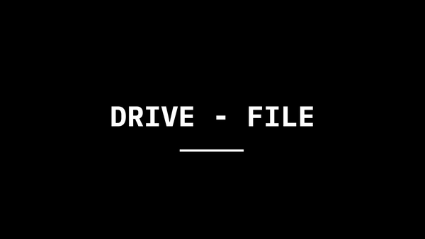 Drive - File Stream