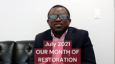 Pastor's Monthly Greetings - July 2021