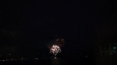 La terrasse de Port Mole: feux d'artifices