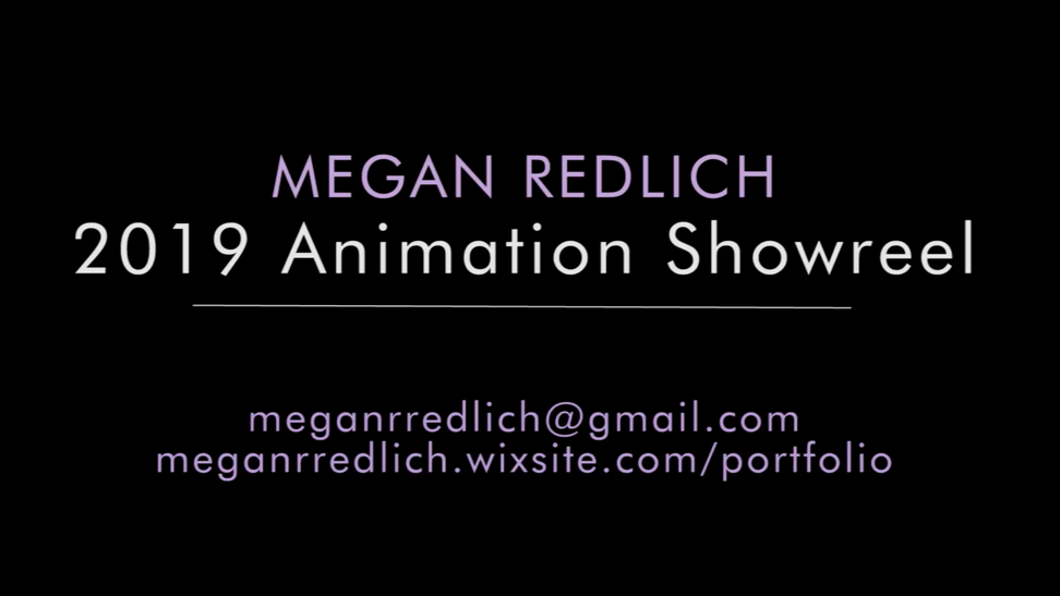 Megan Redlich 2019 Animation Showreel