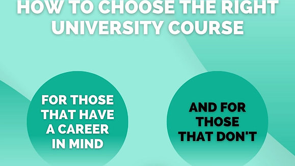 How to choose the right university course