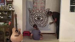 Sadie & Susan paint