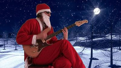 """Père Noël """"Lookatme"""" Guitariste"""