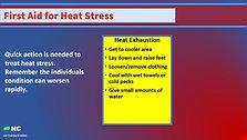 Weakly Tailgate Heat Stress and Sun Exposure2