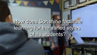 How does Sonshine facilitate learning for the varied styles of its students?