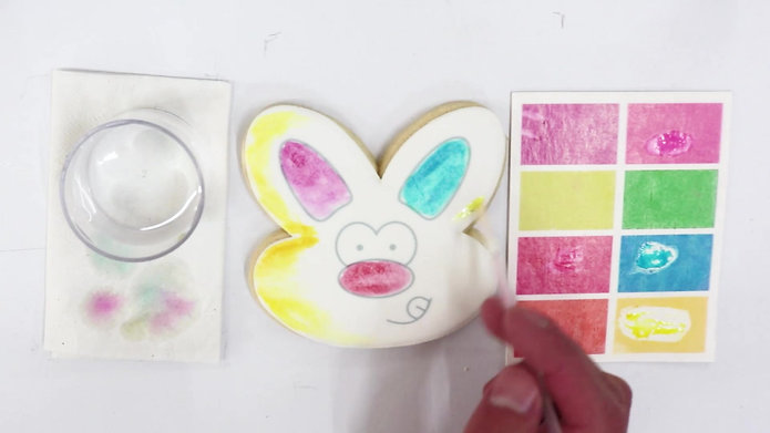 Easter Bunny, Coloring Cookies