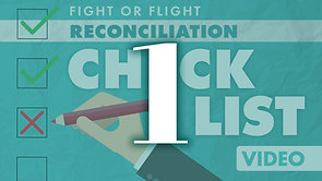 Reconciliation Checklist Part 1