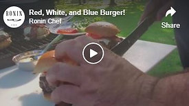 Red, White, and Blue Burger!