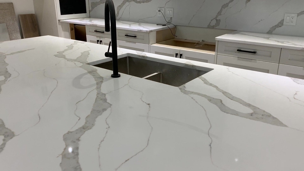 G&A touchof granite white veining