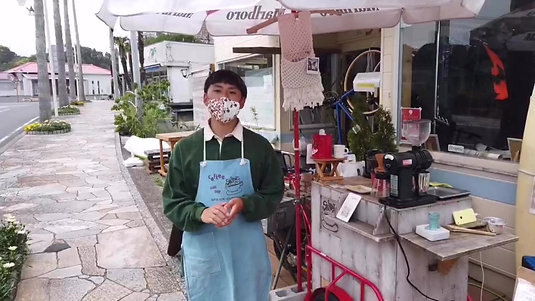 勝浦朝市の珈琲屋台