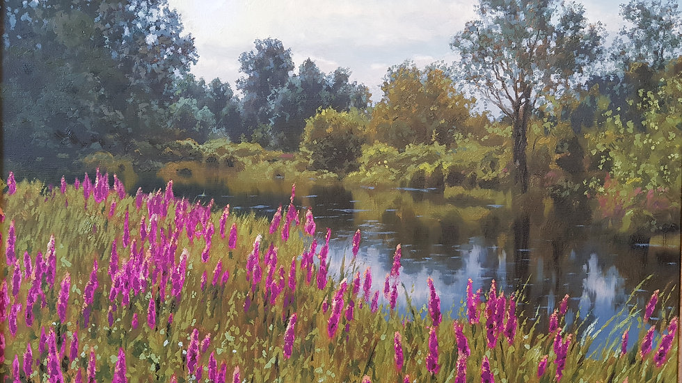 Цветы у реки мастер класс 1 часть