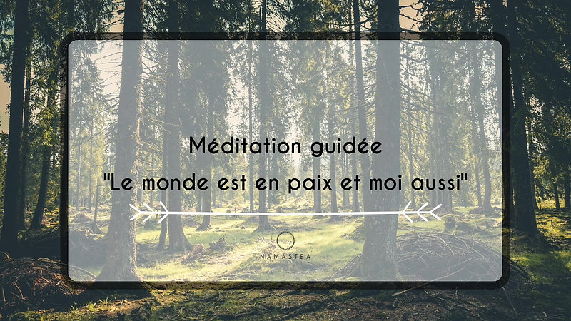 """Méditation guidée """"Le Monde est en paix et moi aussi"""""""