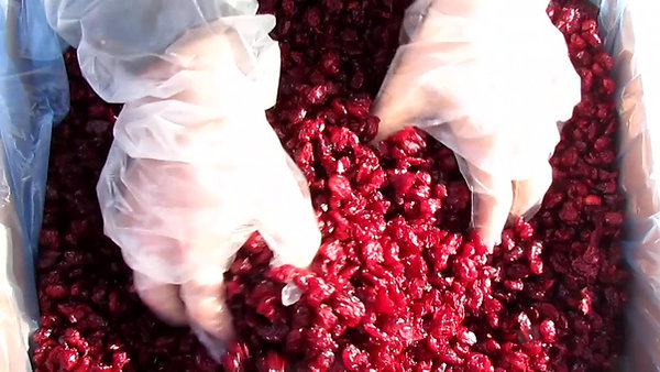 Dried cranberries The Stone Group opening the box higher resolution