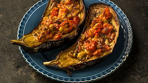 Auberginen mit Tomaten und Käse aus »Ofirs Küche«