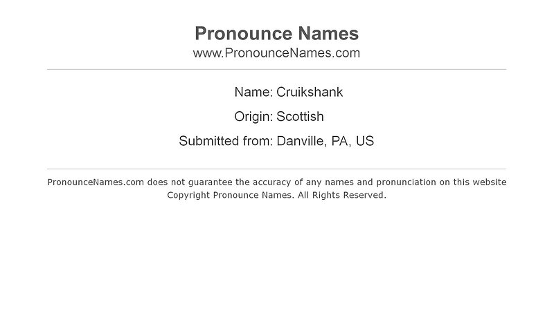 Cruickshank Channel