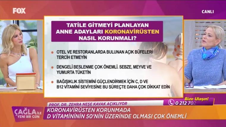 Prof. Dr. Zehra Neşe Kavak / FOX TV - Çağla ile yeni bir gün - 22.06.2020